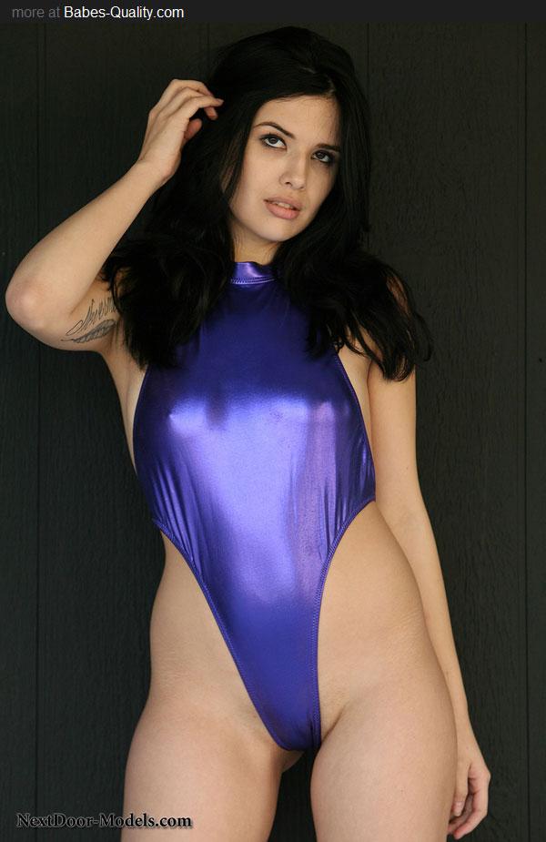 One piece swimsuit legs spread