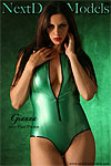 Hot mature in tight green latex suit.